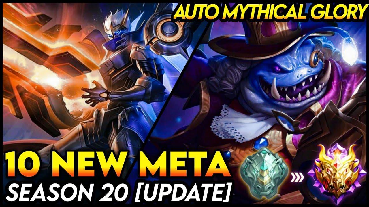 20 NEW META HEROES MOBILE LEGENDS 20   SEASON 20 UPDATE   Mobile  Legends Tier List
