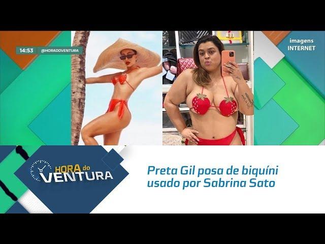 Preta Gil posa de biquíni usado por Sabrina Sato  - Bloco 02