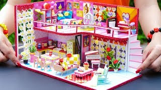 DIY Miniature Dollhouse Bathroom and Bedroom ~ Belle (Beauty and the Beast) Room Decor Princess