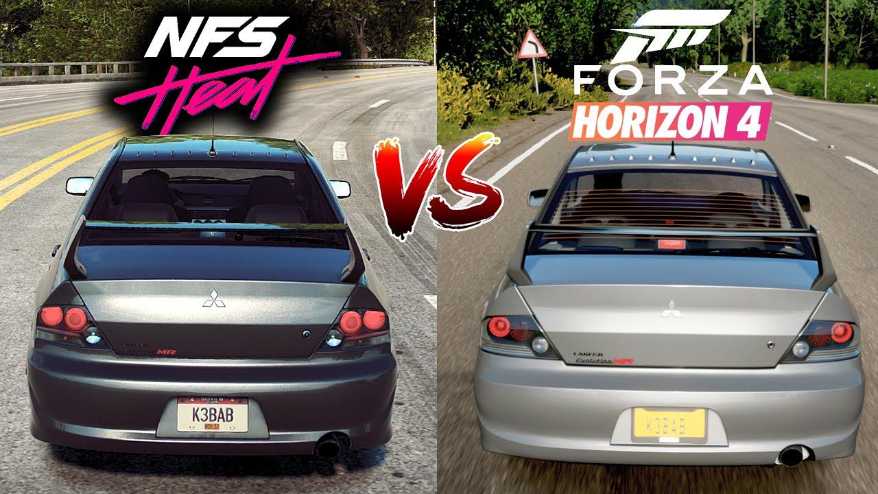 Need For Speed HEAT vs Forza Horizon 4 - Mitsubishi Lancer Evolution IX