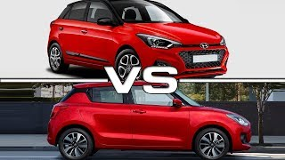 2019 Hyundai i20 vs 2018 Suzuki Swift Technical Specifications