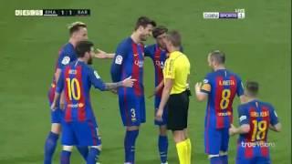 Messi bị đánh hộc máu miệng ở siêu kinh điển Real - Barca