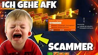 Ich gehe AFK während ich mit 2 SCAMMER Trade !!! ER WEINT 😭 Scammer Test - Fortnite Rette die Welt