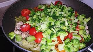 Рис с овощами в сковородке. ВКУСНЫЙ ГАРНИР ИЗ РИСА. Как приготовить рис с овощами и мясом.