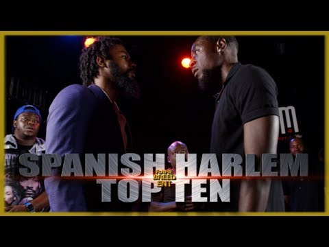 SPANISH HARLEM VS TOP TEN RAP BATTLE - RBE