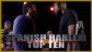 SPANISH HARLEM VS TOP TEN RAP BATTLE - RBE