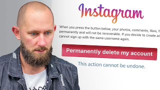 Permanently Deleted My Twitter & Instagram Accounts! (1M+ Followers Gone!)