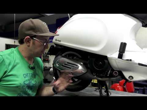 Modern Vespa Front Wheel Removal / Installation   FunnyCat TV