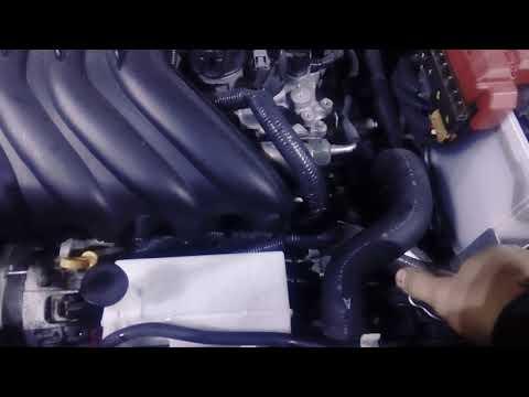 Замена антифриза на Nissan Juke двс HR15