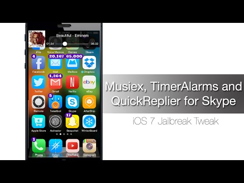 Jailbreak Tweak Roundup Musiex, TimerAlarms And QuickReplier For Skype - IPhone Hacks