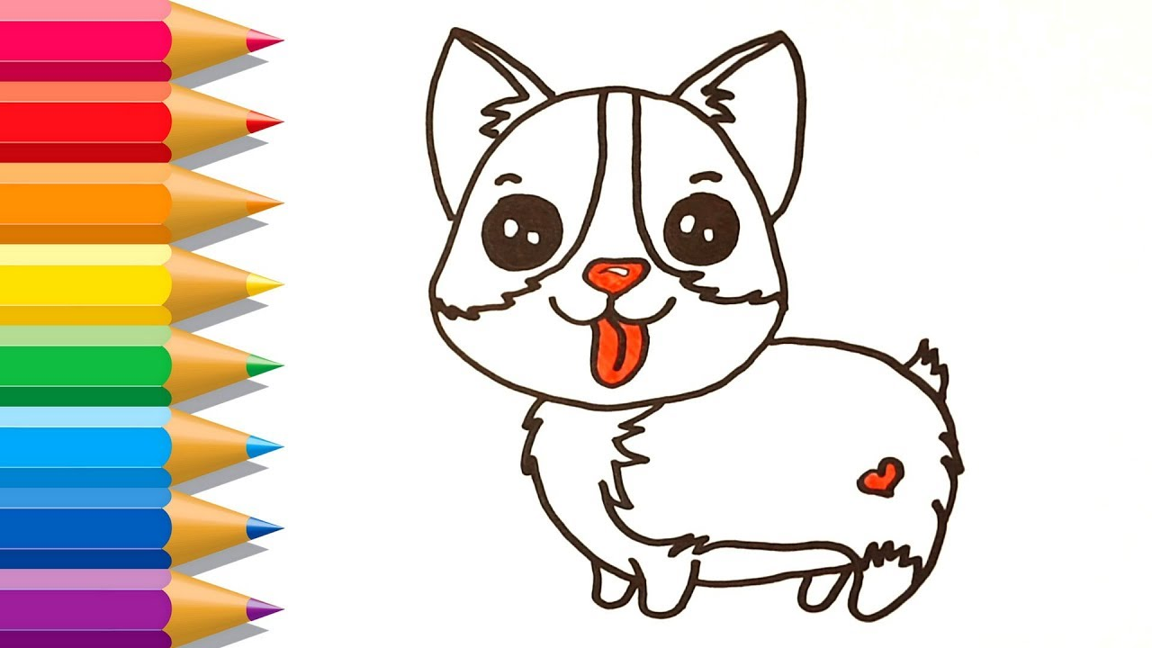 - How To Draw A Corgi Easy Corgi Dog Coloring Pages Drawing For