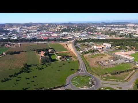 Bifurcation A9/A61 - Suivi aérien des travaux d'aménagement (janvier 2017)