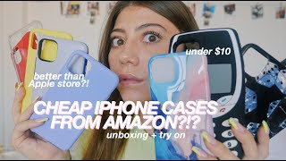 TESTING CHEAP PHONE CASES FROM AMAZON!!! iPhone 11 Pro Max case haul & unboxing *amazon favorites*