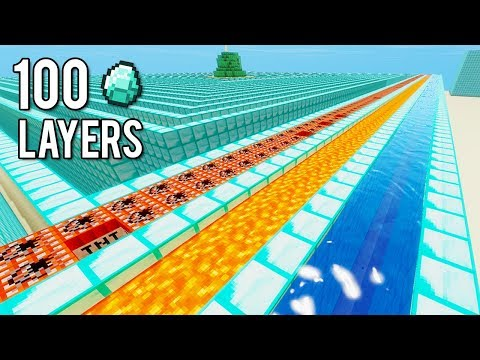 100 LAYERS OF DIAMOND BASE CHALLENGE! (Minecraft IMPOSSIBLE CHALLENGE)