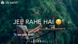 Tute Hai Is Tarah Dil 💔 Aawaz Tak Na Aaye Whatsapp Status || By Asif 07