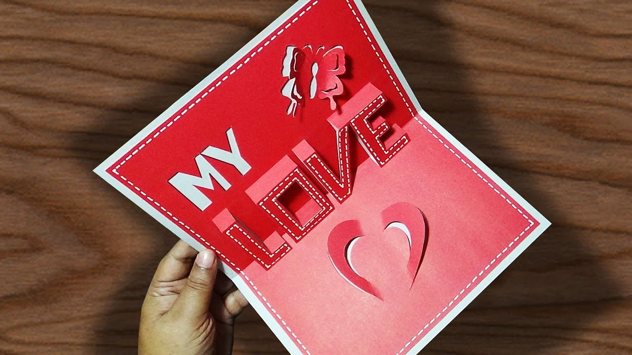 Diy valentine s day pop up card anniversary cards gift idea