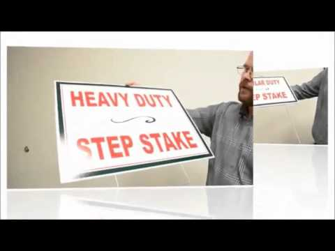How to Assemble plastic signs to step stake RSX