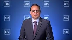 Oberbürgermeister Thomas Kufen informiert über die neue Coronaschutzverordnung des Landes NRW.