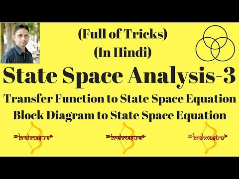 Transfer function to state space equations-1 (Control System-45) by SAHAV SINGH YADAV