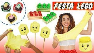 FESTA DE ANIVERSÁRIO LEGO #1: SLIME NO POTINHO & DOCES FOFINHOS | Paula Stephânia