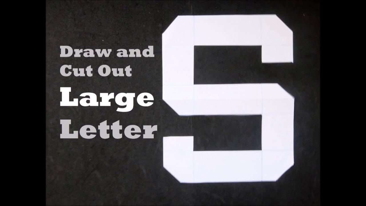 How to Cut Out Large Letter S   YouTube