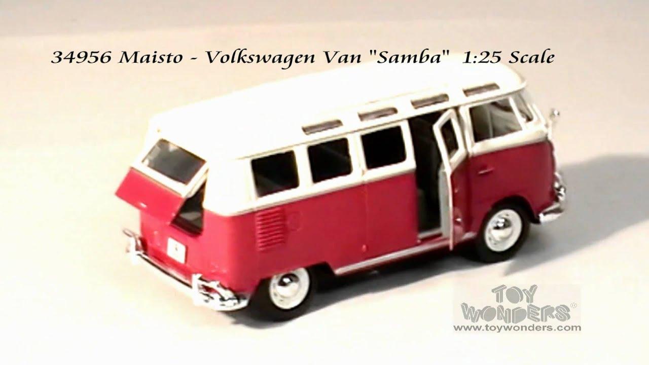 34956-Maisto-Volkswagen-Van-Samba-125-Scale-cast-Wholesale.mpg ...
