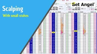 Using Bet Angel - Trading a race on the Ladder - Scalping with small stakes