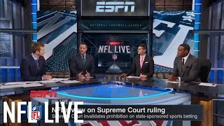 The NFL is 'a little behind' on sports gambling, compared to NBA and MLB | NFL Live | ESPN