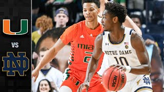 Miami vs. Notre Dame Men's Basketball Highlights (2019-20)