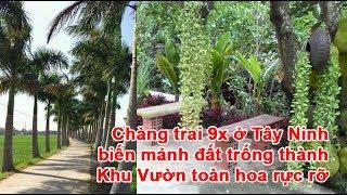 Chàng trai 9x ở Tây Ninh biến mảnh đất trống thành Khu Vườn toàn hoa rực rỡ