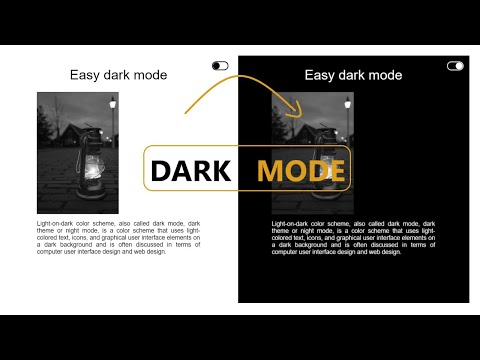 How To Create A Dark Mode In 4 Minutes Using HTML, CSS & JavaScript