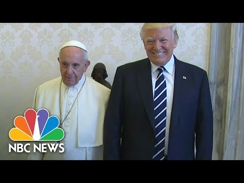 Pope Francis Meets Donald Trump, Jokes With First Lady Melania About President's Diet | NBC News
