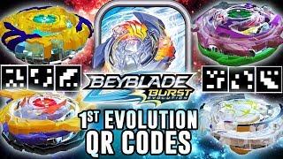 Novos Qr Codes Beyblade Burst Evolution - Genesis Valtryek Drain Fafnir