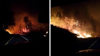 video: California wildfires: 16 dead and hundreds of homes destroyed as half a million people in Oregon flee flames