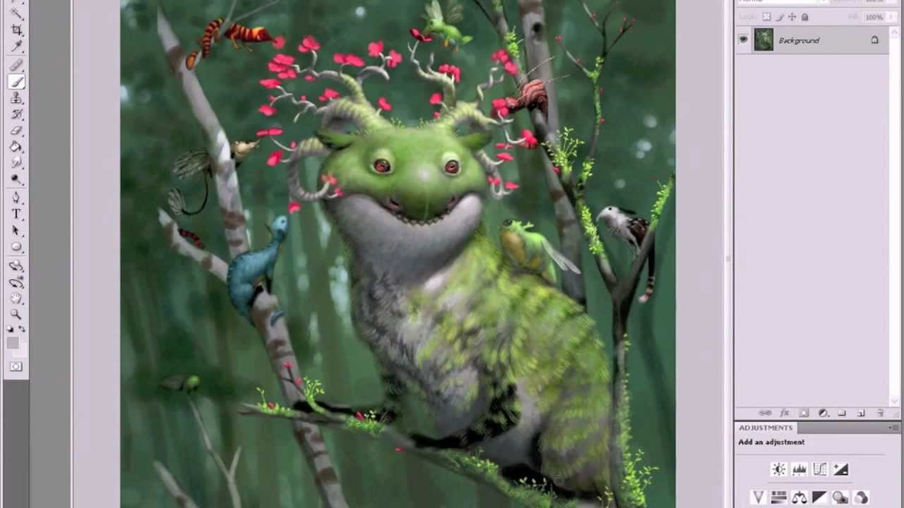 create creatures like bobby chiu in photoshop with artist