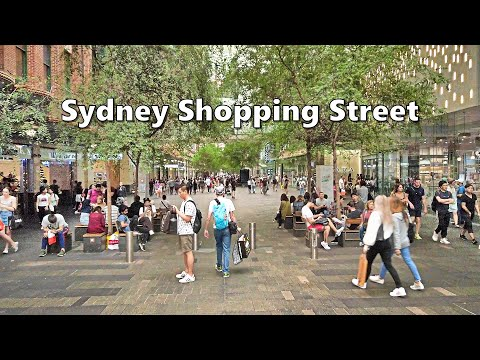Sydney Shopping Street - PITT STREET MALL & David Jones CHRISTMAS WINDOWS 2019
