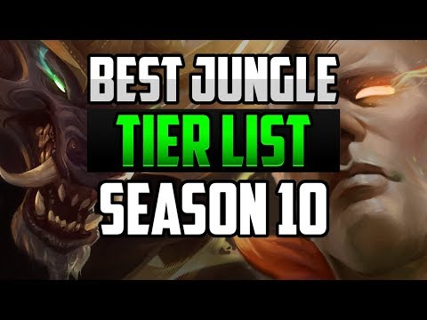 BEST Jungle Champions TIER LIST For CARRYING SOLO QUEUE SEASON 10 League Of Legends