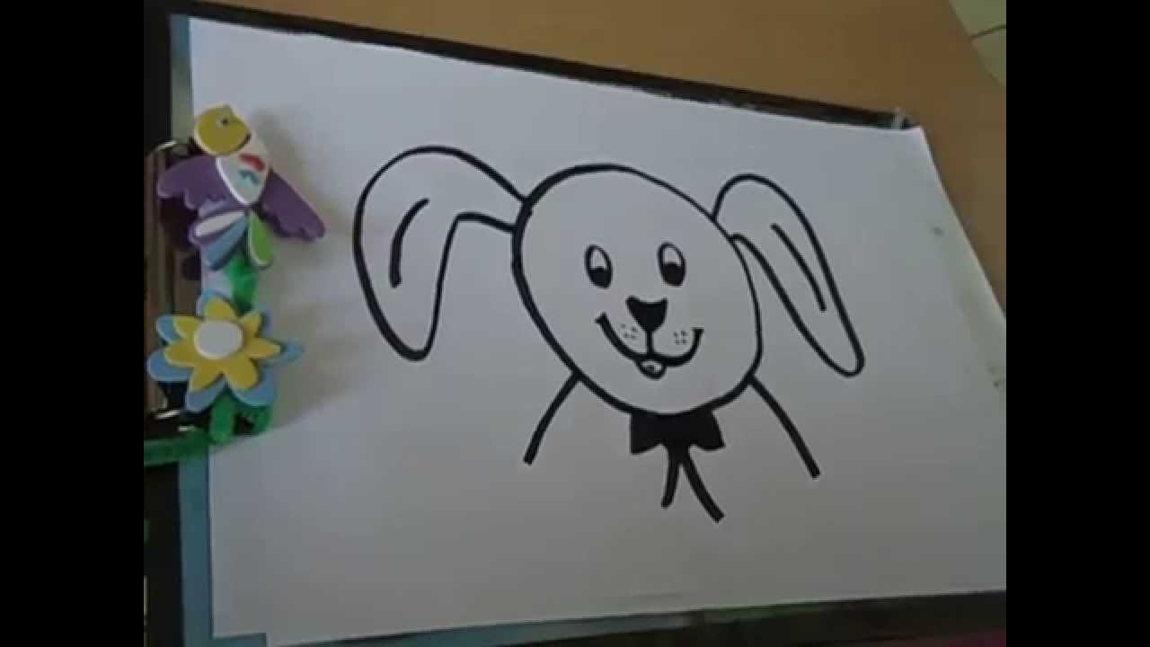 Drawing For Kids Draw Dog Face Using Circle In Simple Steps Youtube