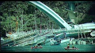 Túlélők és áldozatok után kutatnak a leomlott híd alatt