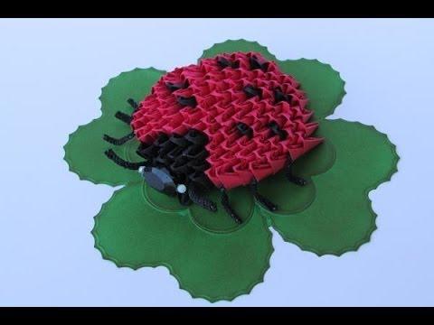3d origami ladybug tutorial youtube