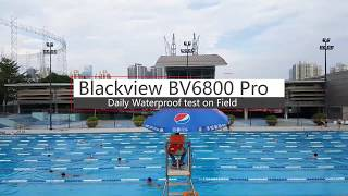 Blackview BV6800 Pro Test Prueba de agua, IP68 IP69K móvil resistente con 6580mAh NFC