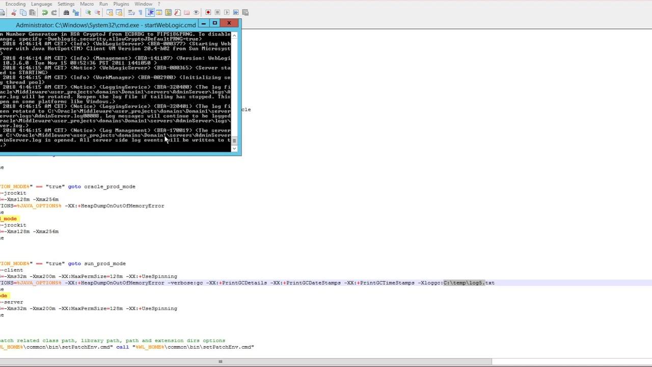 How to enable java debug settings in Weblogic