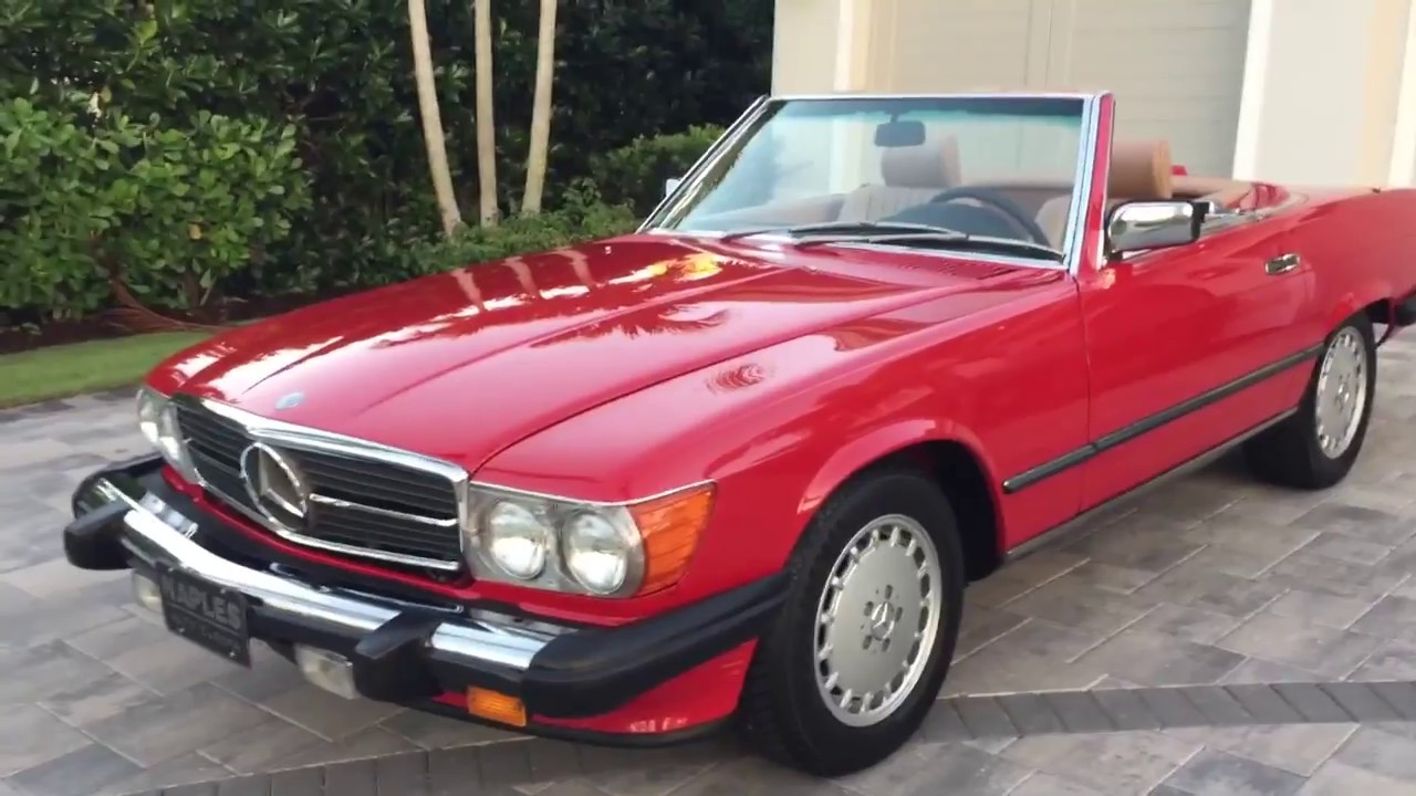 1987 Mercedes Benz 560SL Roadster Review and Test Drive by ...