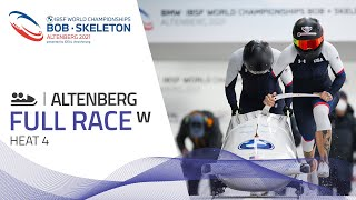 Altenberg | BMW IBSF World Championships 2021 - Women's Bobsleigh Heat 4 | IBSF Official