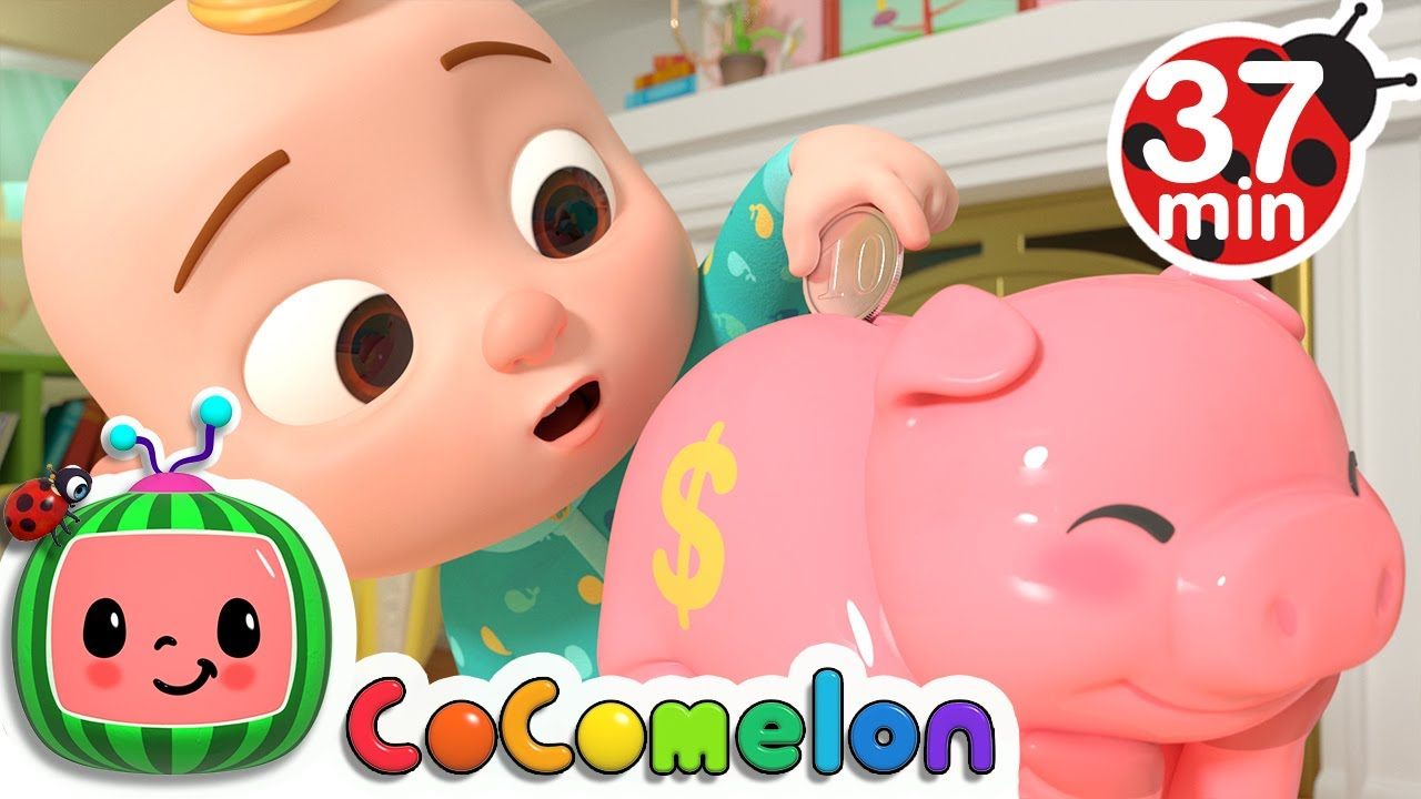 Piggy Bank Song More Nursery Rhymes Kids Songs Cocomelon Youtube