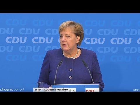 Pressekonferenz von Angela Merkel nach der CDU-Präsidiumssitzung am 05.11.18