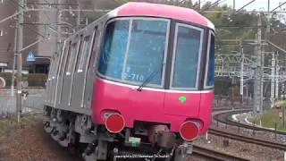 JR貨物 都営12-600形(大江戸線用 12-718F)甲種輸送を山崎サントリーカーブで撮影(H31.2.15)