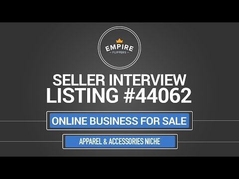 Online Business For Sale – $8.1K/month in the Apparel & Accessories Niche