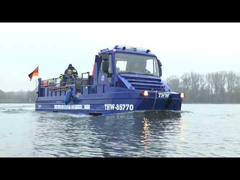 Neues Amphibienfahrzeug für das THW Germersheim