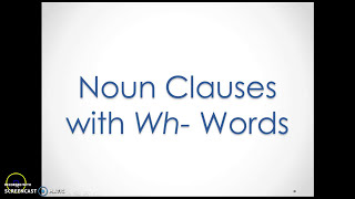 noun clauses with wh words
